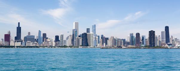 In de dag Chicago Chicago skyline