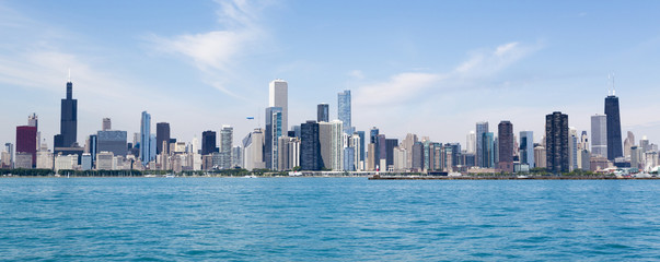 Photo on textile frame Chicago Chicago skyline