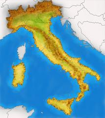 Italia Cartina Fisica Vista Satellitare Mappa Kaufen Sie Diese