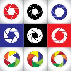 Digital SLR Camera Shutter set Circular colorful pattern set
