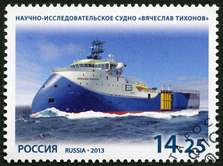 RUSSIA- 2013: scientific and research vessel Vyacheslav Tikhonov