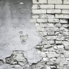 old ruined wall vector background