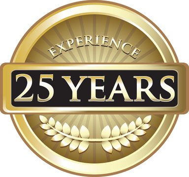 Twenty Five Years Experience Pure Gold Award