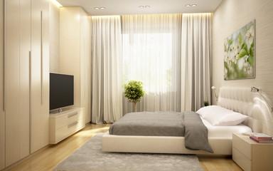 Bedroom in a European hotel