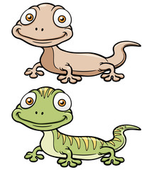 Vector illustration of Gecko cartoon
