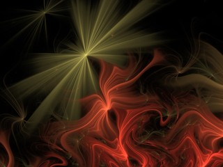 Abstract fractal on the black background