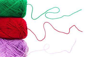 colored yarn thread