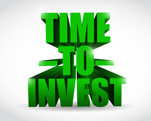 time to invest text illustration design