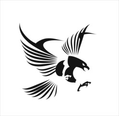 Flying Eagle, spread out its feather