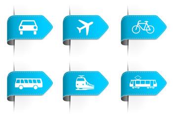 Sticker Verkehrsmittel blau