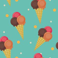 Seamless ice cream wallpaper