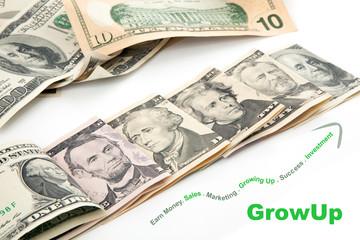 Creative Growng up of U.S. currency