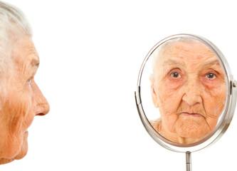 mirrored portrait