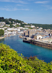 Fototapete - Looe Cornwall England on a sunny summer day