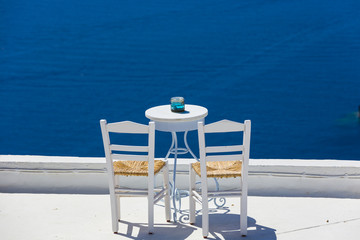 romantic place in Santorini island,Greece