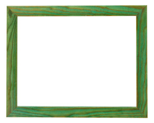 narrow flat green picture frame