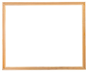 old simple wooden narrow picture frame