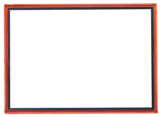 red and black narrow picture frame