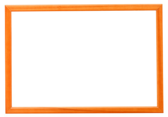 modern orange narrow picture frame
