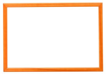 modern orange narrow picture frame