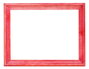 old red painted wooden picture frame