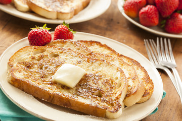 Homemade French Toast with Butter