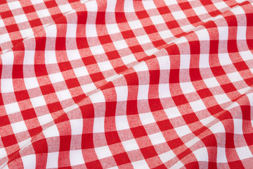 Acrylic Prints Picnic Tablecloth red and white wavy texture background