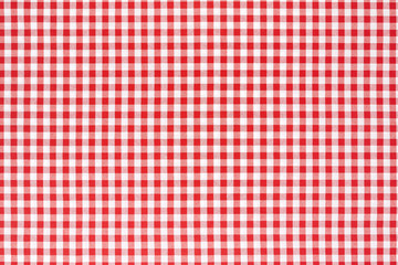 Red and white tablecloth background