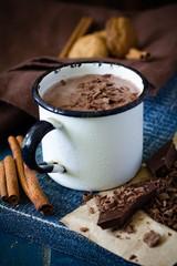 Fotobehang Chocolade Chocolate milk