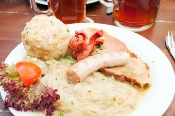 Meat and sauerkraut