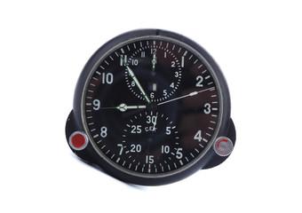 Old aircraft clock