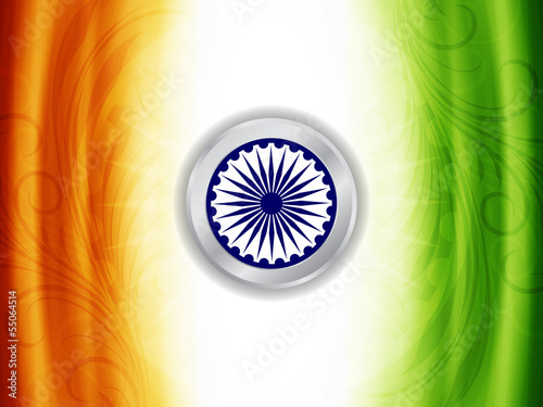 Beautiful Background Design For Indian Independence Day Stock