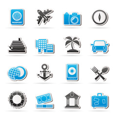 Tourism and Travel Icons - vector icon set
