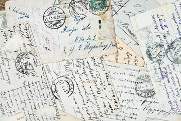 old letters background