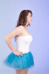 hispanic woman in tutu dress