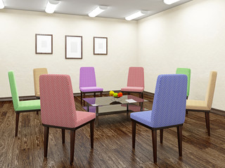 Color chairs for discussion