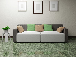 Sofa near the wall