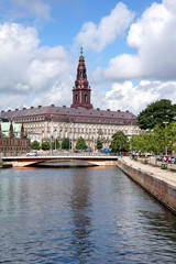 Blick auf Schloss Christiansborg, Kopenhagen