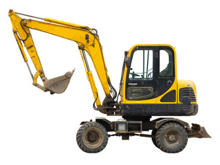 Old small excavator
