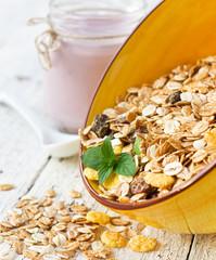 Muesli and yogurt