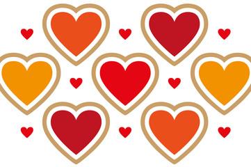 Herz-Postkarten Layout