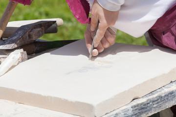 sculpteur de pierre