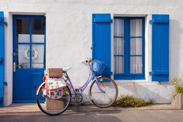 France > Vendée > Noirmoutier > Façade > Vélo