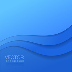 Abstract vector blue Background with copyspace.