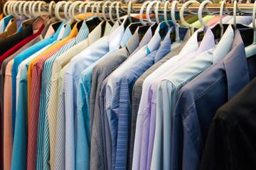 row of colorful row shirts