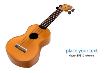 vector ukulele guitar on white background