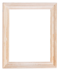 wide light wooden picture frame
