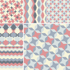 set of abstract geometric pattern background