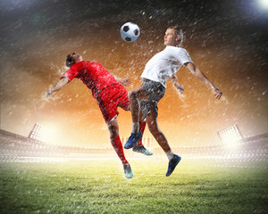Photo sur Aluminium Le football Two football player
