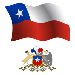 chile wavy flag and coat